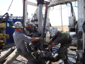 Drilling Roughnecks jobs on an oil rig